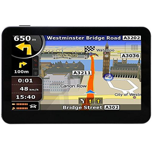 Hieha-43-Inch-Car-Bus-GPS-SAT-NAV-SpeedCam-Lifetime-EU-UK-Maps-8GB-0